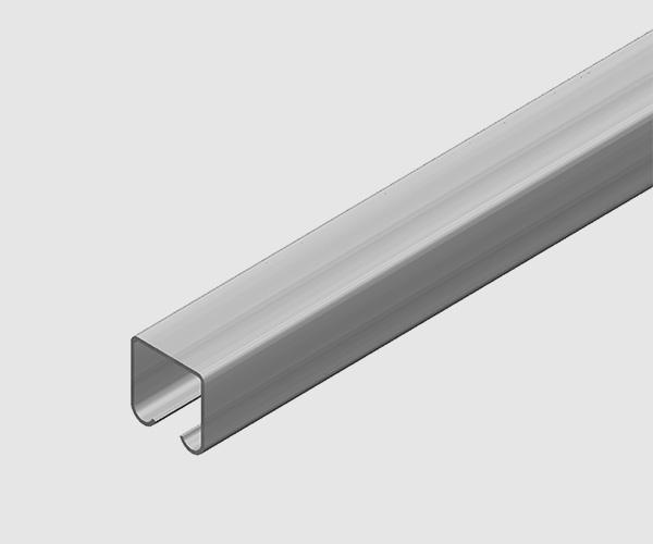 Perfil en C para montaje de sistema eléctrico por cable plano.